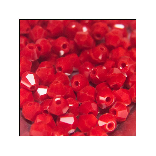 Crystal Bicone, 4mm Porcelain Red (100)