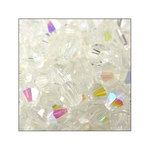 Crystal Bicone, 4mm Crystal AB (100)