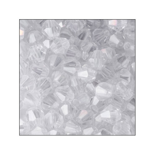 Crystal Bicone, 4mm Crystal (100)