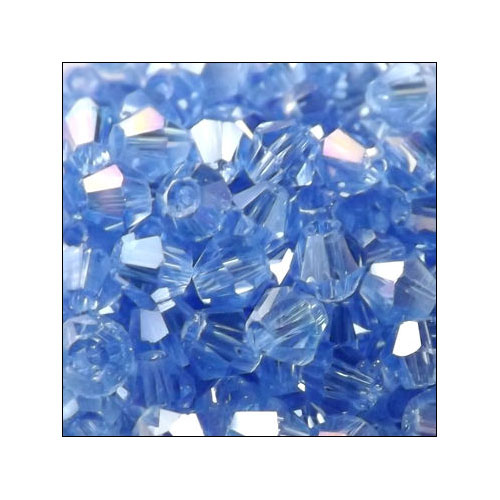 Crystal Bicone, 4mm Light Sapphire AB (100)