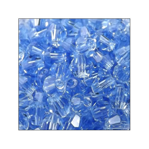 Crystal Bicone, 4mm Light Sapphire (100)