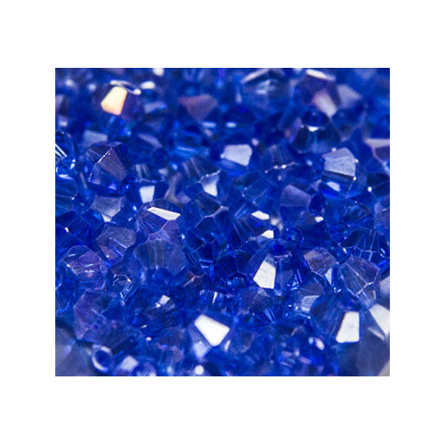 Crystal Bicone, 4mm Sapphire AB (100)