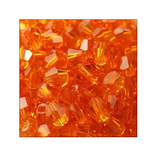 Crystal Bicone, 4mm Orange (100)