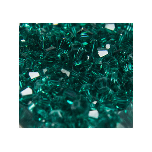 Crystal Bicone, 4mm Emerald (100)