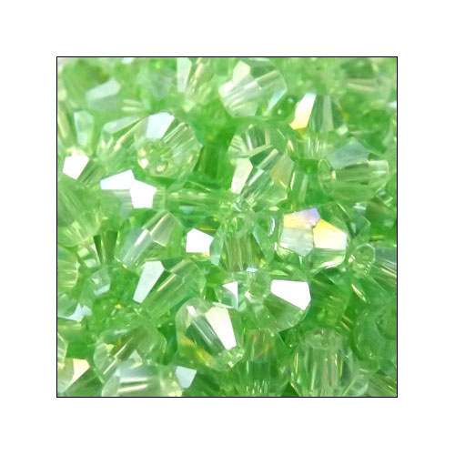 Crystal Bicone, 4mm Chrysolite AB (100)