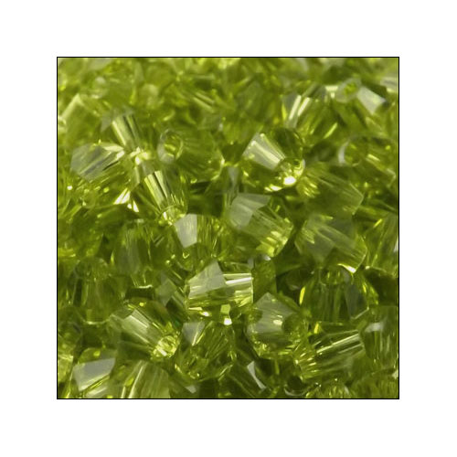 Crystal Bicone, 4mm Olivine (100)