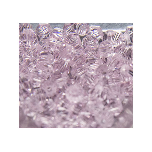 Crystal Bicone, 4mm Pink (100)