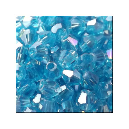 Crystal Bicone, 4mm Capri Blue AB (100)