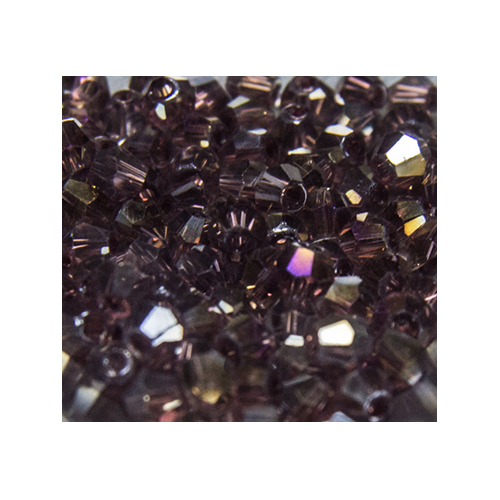 Crystal Bicone, 4mm Burgundy AB (100)
