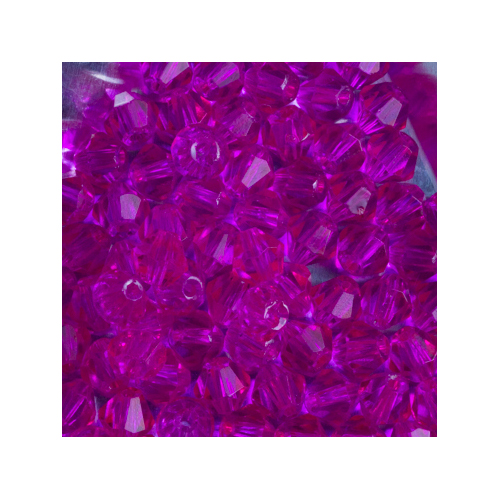 Crystal Bicone, 4mm Fuchsia (100)