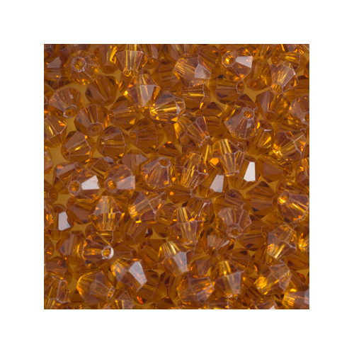 Crystal Bicone, 4mm Amber (100)