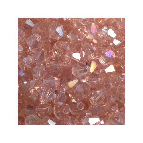 Crystal Bicone, 4mm Peach AB (100)