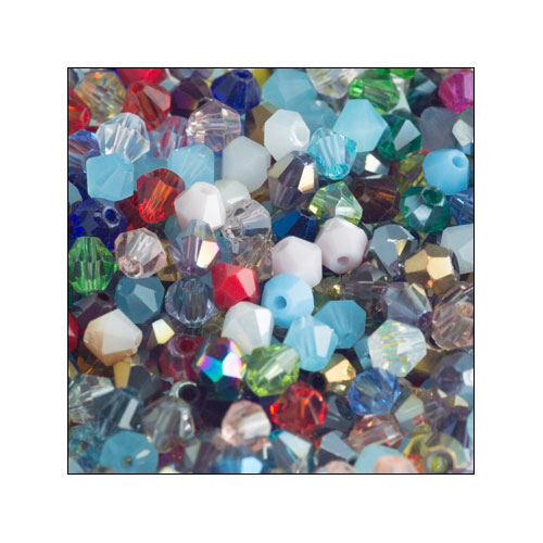 Crystal Bicone 4mm Random Mixture (100)