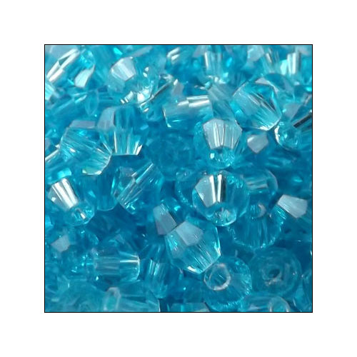 Crystal Bicone, 4mm Aquamarine (100)