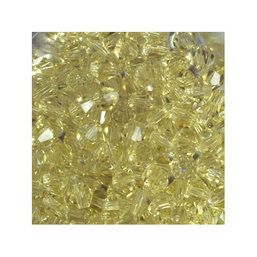 Crystal Bicone, 4mm Light Yellow-Green (100)