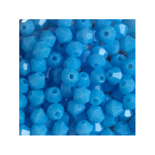 Crystal Bicone, 4mm Light Blue Sapphire Opaque (100)