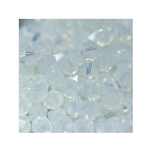 Crystal Bicone, 4mm White Opal (100)
