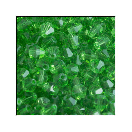 Crystal Bicone, 4mm Green-Yellow (100)