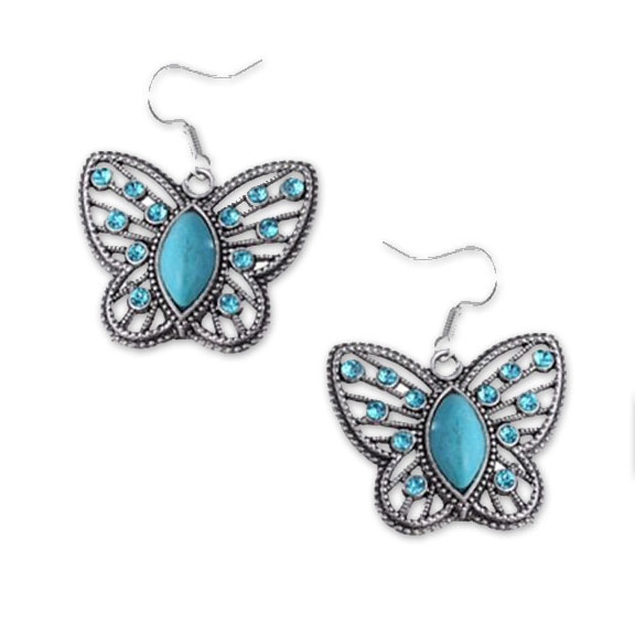 Lacey Turquoise Butterfly Earrings