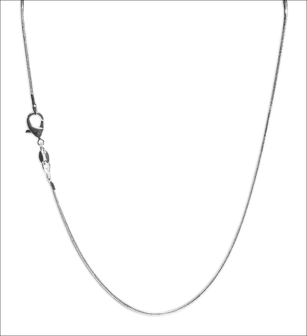 925 Sterling Silver-Plate Snake Chain Necklace 1.2mm 20""