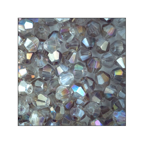 Crystal Bicone, 4mm 2 Tone Light Topaz-Crystal AB (100)