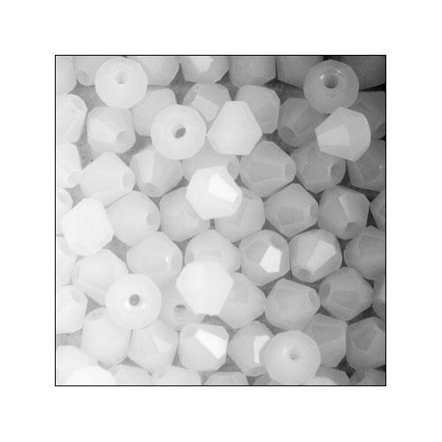 Crystal Bicone, 4mm White (100)