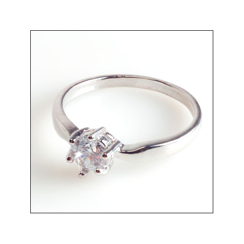 Cubic Zirconia 5.5mm Ring, Size 6.25