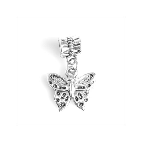 Butterfly 01 Silver Charm