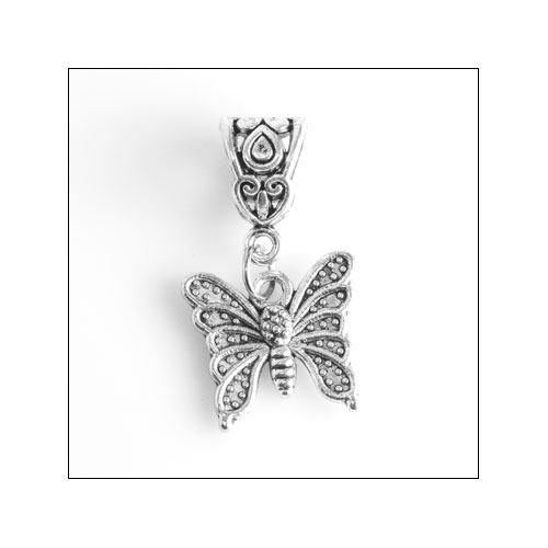 Butterfly 02 Silver Charm