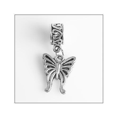 Butterfly 03 Silver Charm