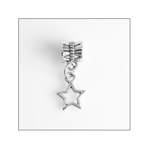5 Point Star Silver Charm