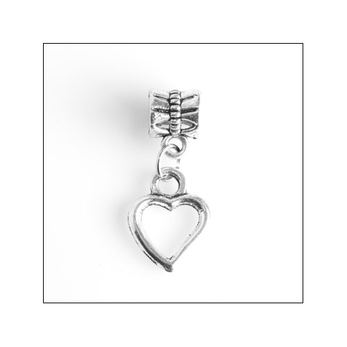 One Heart Silver Charm