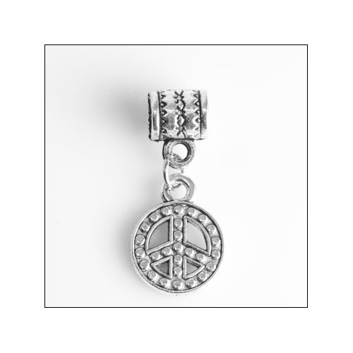 Peace Sign Silver Charm