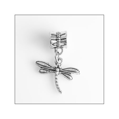 Petite Dragonfly Silver Charm