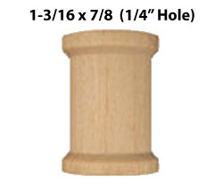 "Wooden Spool 1-3/16"" x 7/8"" (3 per package) B"