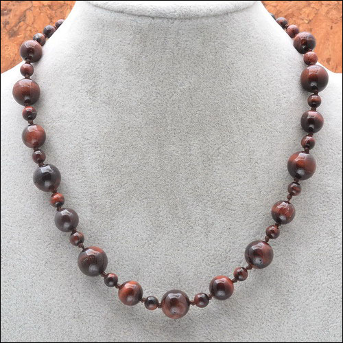 6, 8, 10 mm Tiger Eye Necklace