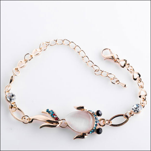Fancy Opal Gold Fish Bracelet