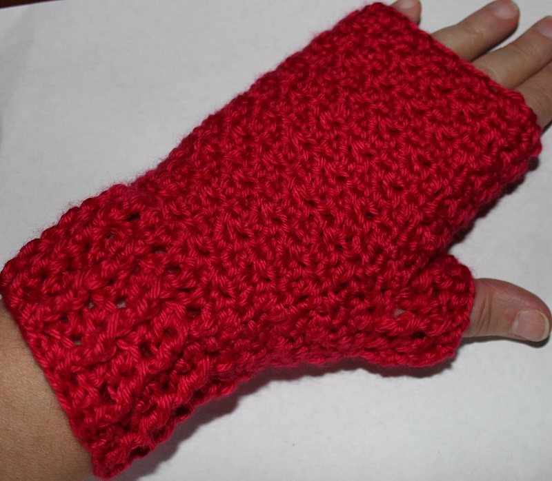 Ruby Fingerless Mitts