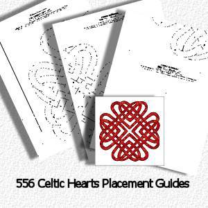 566A Celtic Hearts Placement Guides