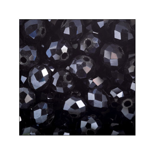 Crystal Rondelle, 4 x 6mm Black (50)
