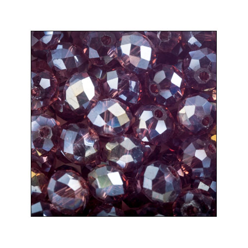 Crystal Rondelle, 4 x 6mm Burgundy AB (50)