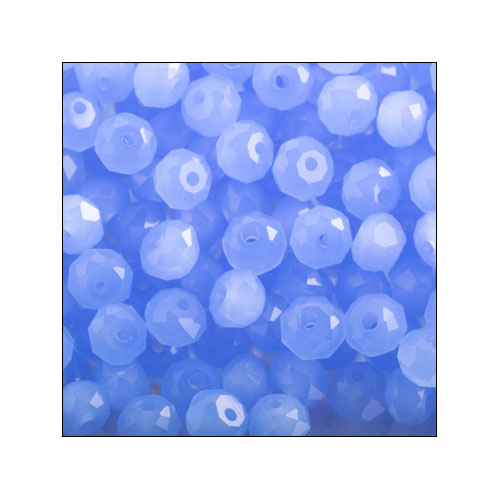 Crystal Rondelle, 3 x 4mm Light Sapphire Opaque (100)