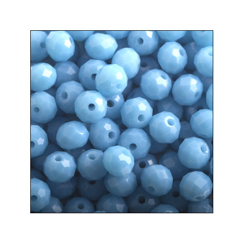 Crystal Rondelle, 3 x 4mm Light Blue Opaque (100)