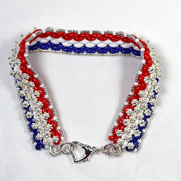 "Sterling Silver .925 ""I Love the USA"" Bracelet"