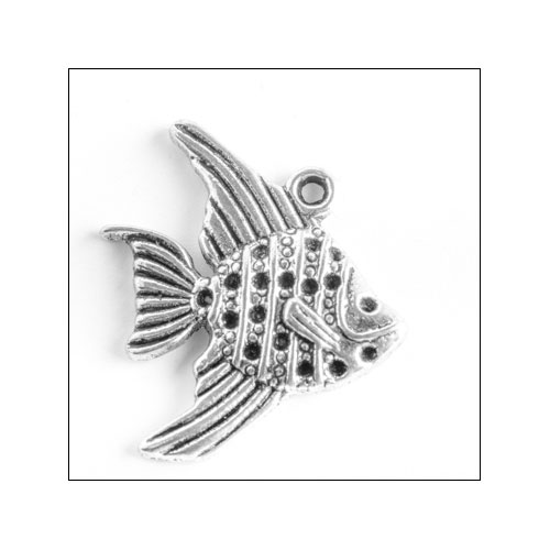 Angelfish Silver Charm (no bail)