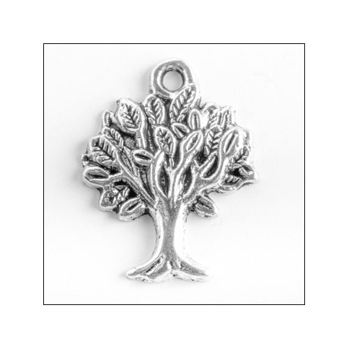 Tree of Life Silver Charm (no bail)