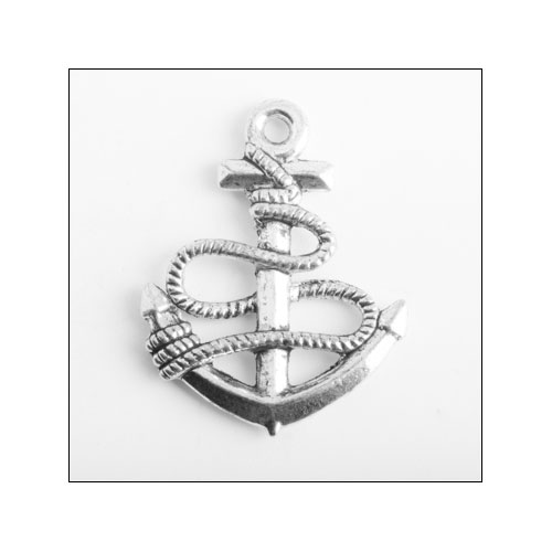Anchor Silver Charm (no bail)