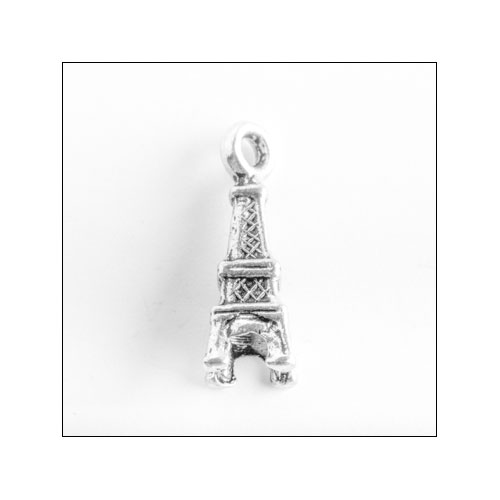 Eiffel Tower Silver Charm (no bail)