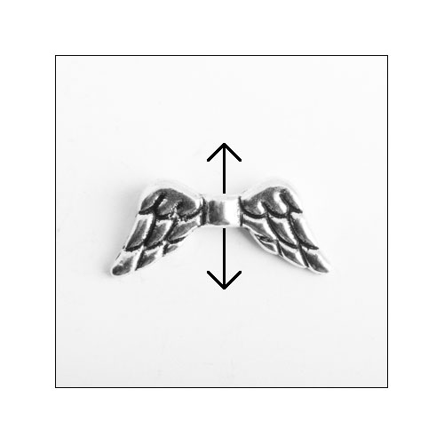 Angel Wings #2 Silver Charm (no bail)