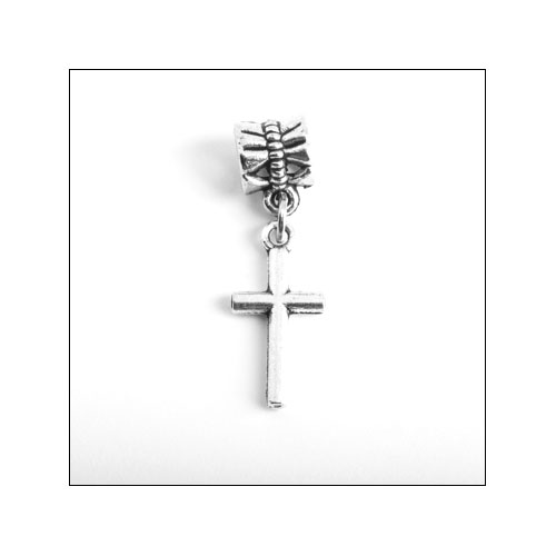 Cross 1 (18x9mm) Silver Charm